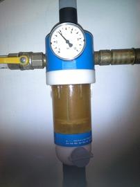 Wasserfilter in Betrieb